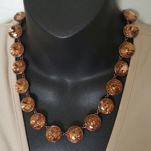 Juicy Couture necklace rose gold tone